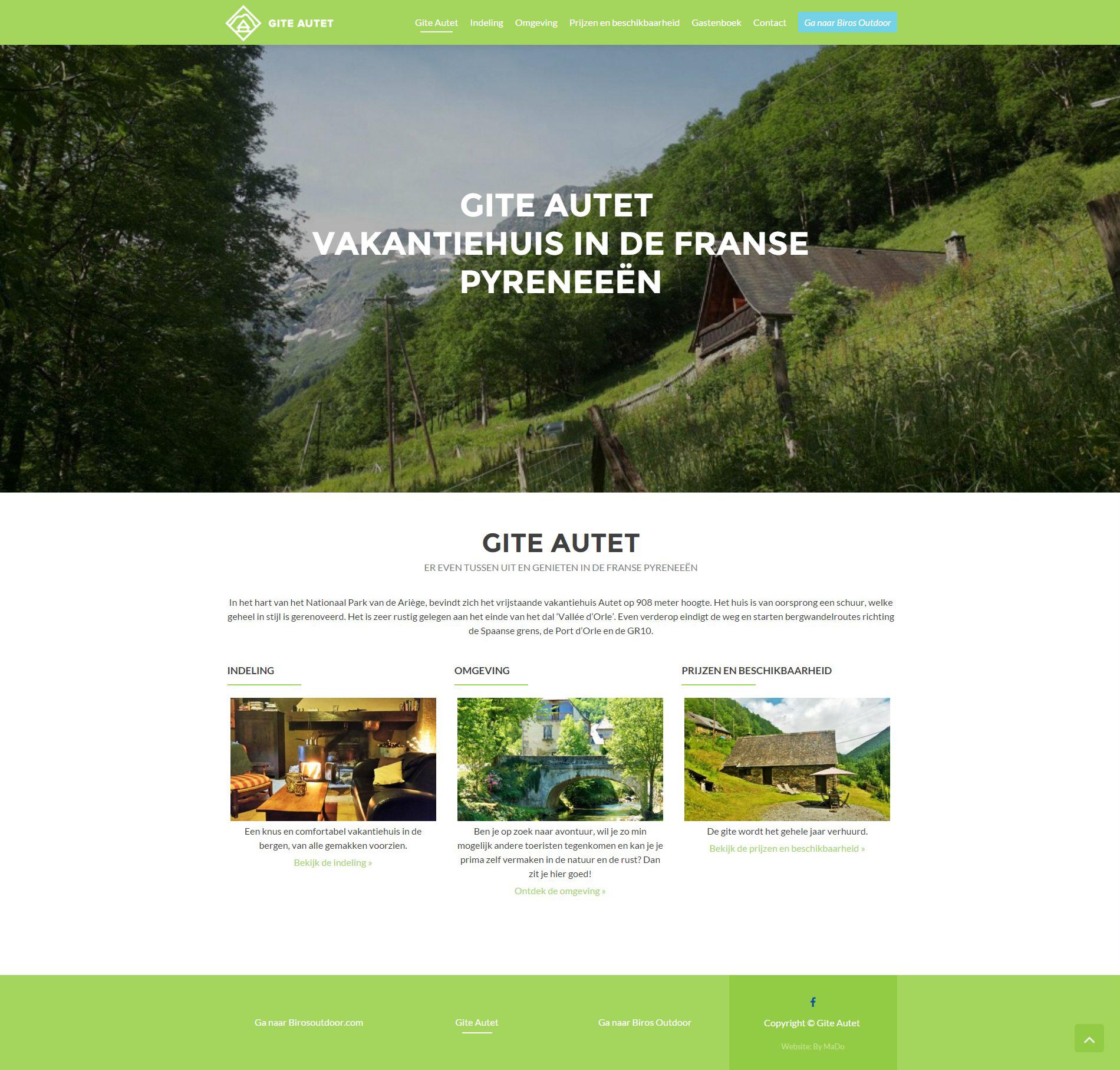 Website | Gite Autet | Home