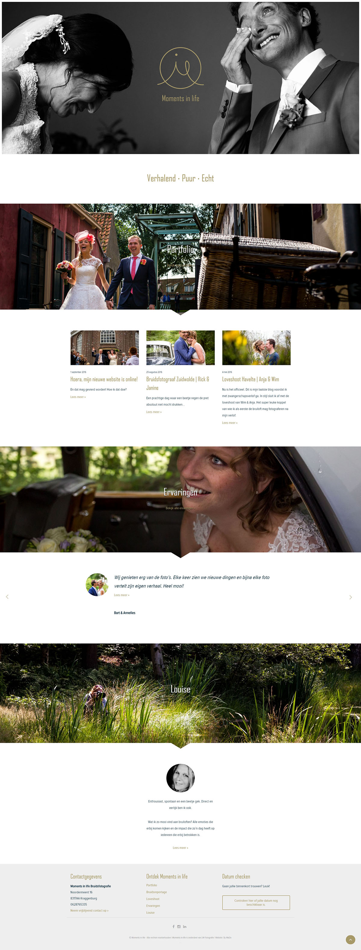 Website | Moments in life | Home